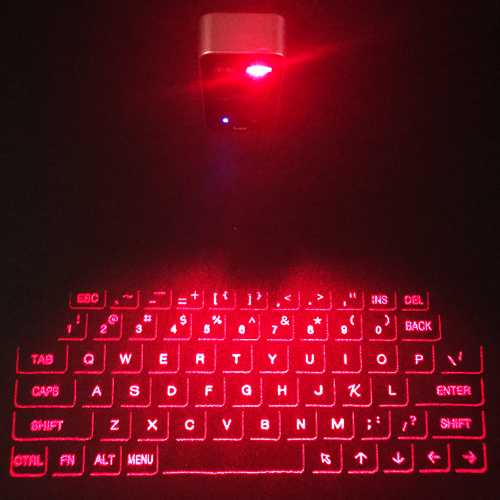 Red Laser Projection Keyboard Ios Android Pc